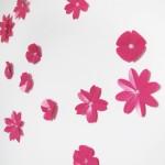 Sticker 3D nuée de fleurs
